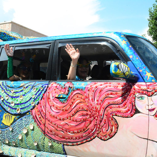 artocade 2017 car with mermaid