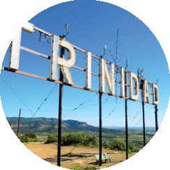 Circular image of Trinidad sign