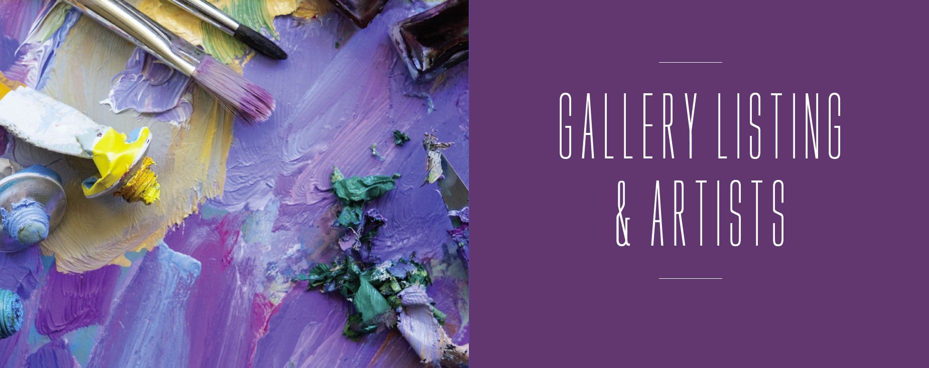 Gallery Listing and Artists title image